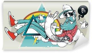 Fototapeta Winylowa Abstract graffiti, hipster