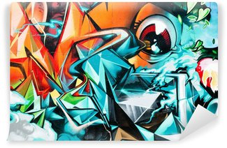 Fototapeta Winylowa Abstract graffiti, szczegóły na ścianie teksturowane