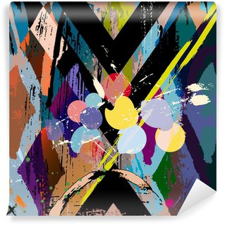 Fototapeta Winylowa Abstrakcyjna skład, z uderzeń, zachlapaniem i Rom