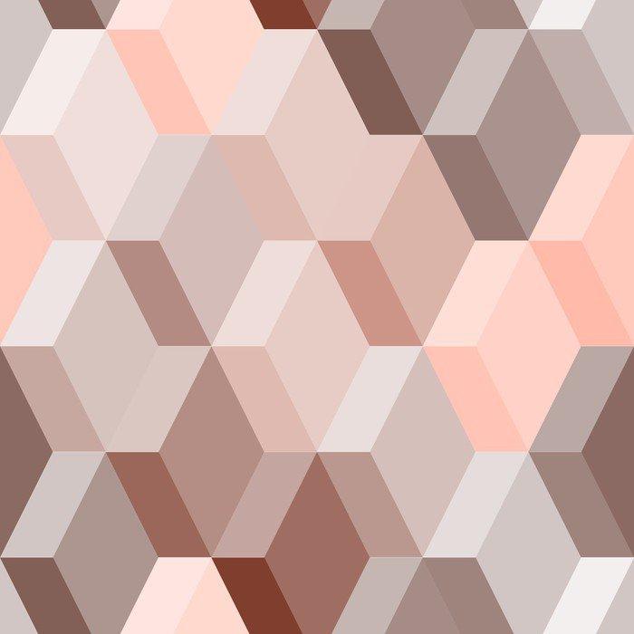 Fototapeta Winylowa Abstrakcyjne geometryczne szwu w różowym i brązowym, wektor - Tematy