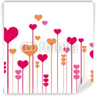 Fototapeta Winylowa Abstrakcyjne kwiaty serca