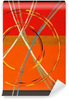 Fototapeta Winylowa Abstrakcyjne malarstwo z łuków, okręgów i paski