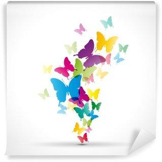 Fototapeta Winylowa Abstrakcyjne tło # wektor motyle