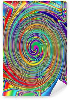 Fototapeta Winylowa Abstrakcyjny obraz tła psychodeliczny spirali
