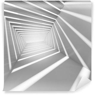 Vinylová Fototapeta Abstrakt bílá 3d interiér pozadí s světelných paprsků