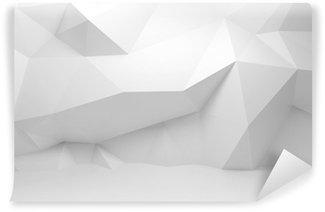 Vinylová Fototapeta Abstrakt bílá 3d interiér s polygonálním vzorem na zeď