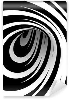 Vinylová Fototapeta Abstrakt černá a bílá spirála