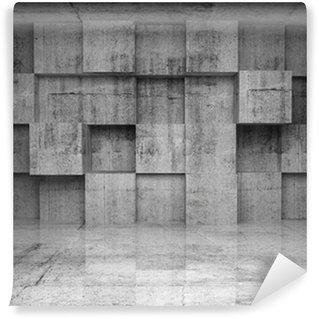 Vinylová Fototapeta Abstrakt empty beton interiér s kostkami na zeď
