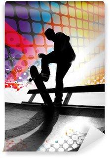 Vinylová Fototapeta Abstrakt Skateboardista