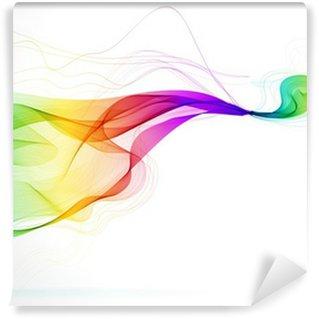 Vinylová Fototapeta Abstraktní barevné pozadí s vlnou