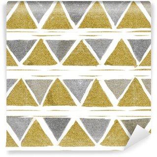 Vinylová Fototapeta Abstraktní bezešvé golden pattern