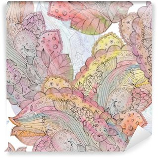 Vinylová Fototapeta Abstraktní bezešvých textur pro batikou s etnickým motivem. watercolo