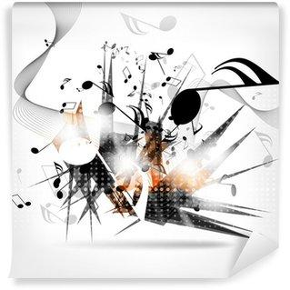 Vinylová Fototapeta Abstraktní hudební pozadí s poznámkami
