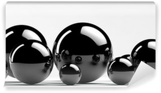 Vinylová Fototapeta Abstraktní kovové koule