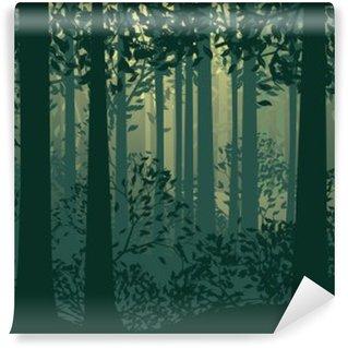Vinylová Fototapeta Abstraktní lesní krajině