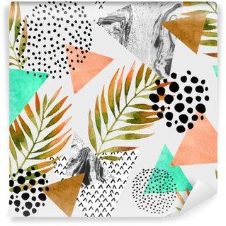 Vinylová Fototapeta Abstraktní letní geometrický vzor bezešvé