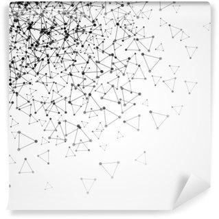 Vinylová Fototapeta Abstraktní pozadí s tečkovanou mřížkou a trojúhelníkové buňky. vektorové ilustrace