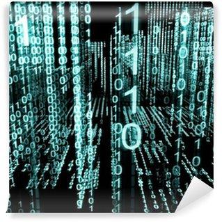 Vinylová Fototapeta Abstraktní technologie pozadí binární 3d.Lenguaje