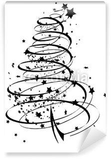 Vinylová Fototapeta Abstraktní vánoční strom s částicemi