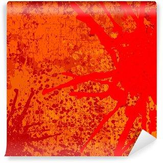Vinylová Fototapeta Abstraktní vektorové pozadí v oranžové tóny