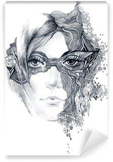 Vinylová Fototapeta Abstraktní žena tvář