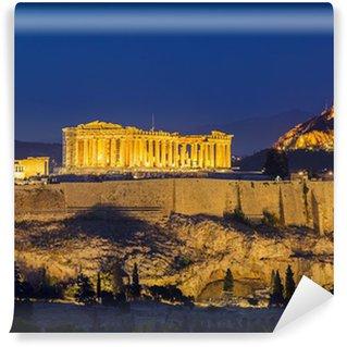 Vinylová Fototapeta Acropolis v noci, Atény