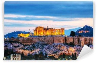 Vinylová Fototapeta Acropolis večer po západu slunce