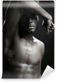 Vinylová Fototapeta African american nude trupu černé sexy muž