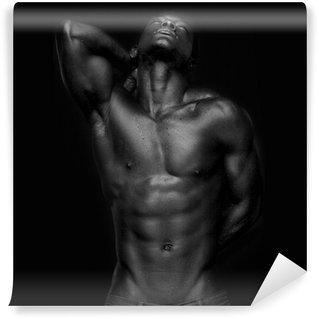 Vinylová Fototapeta Africký Američan se svaly