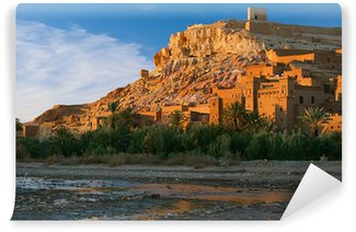 Vinylová Fototapeta Ait Benhaddou Ksar Kasbah, Maroko, Afrika, v západu slunce