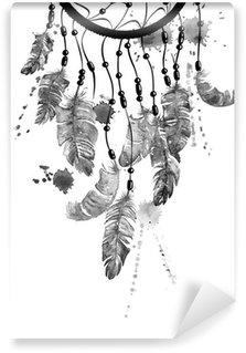Vinylová Fototapeta Akvarel ilustrace s Dreamcatcher