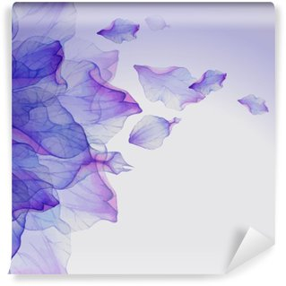 Vinylová Fototapeta Akvarel květinové vzory kulaté.