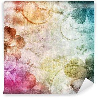 Vinylová Fototapeta Akvarel pozadí s květinami
