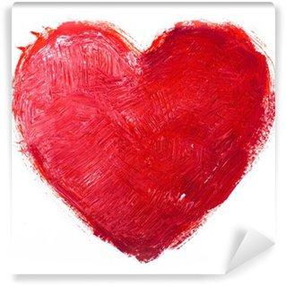 Vinylová Fototapeta Akvarel srdce. Concept - láska, vztahy, umění, malba
