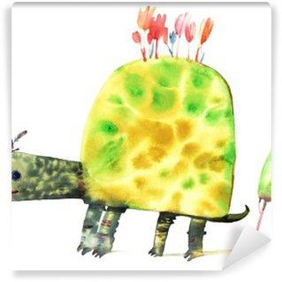 Vinylová Fototapeta Akvarel želva