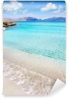 Vinylová Fototapeta Alcudia pláž v Cala San Pere z Baleárských Mallorca