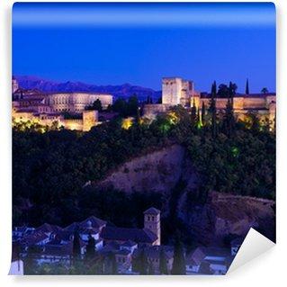 Vinylová Fototapeta Alhambra de Granada, obří panoramatické za soumraku. 8175x5616 p.