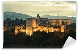 Vinylová Fototapeta Alhambra Palace za soumraku