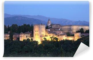 Vinylová Fototapeta Alhambra svítí za soumraku. Granada, Andalusie Španělsko