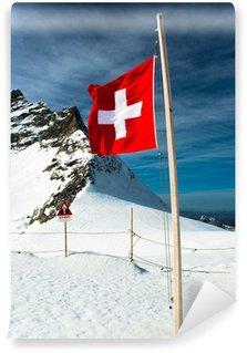 Fototapeta Winylowa Alps krajobraz górski na Jungfraujoch