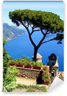 Vinylová Fototapeta Amalfi Coast pohled z útesu města Ravello, Itálie