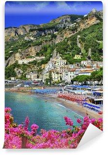 Vinylová Fototapeta Amalfi - krásné pobřežní město, Itálie