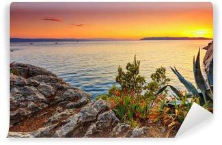 Vinylová Fototapeta Amazing západ slunce na moři, Makarska, Dalamatia, Chorvatsko