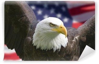 Vinylová Fototapeta American Eagle s vlajkou