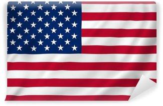 Vinylová Fototapeta Americká vlajka