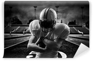 Vinylová Fototapeta Americký fotbal Runningback <in action on stadium