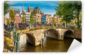 Vinylová Fototapeta Amsterdam panoráma města