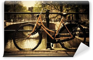 Vinylová Fototapeta Amsterdam. Romantický Canal Bridge, půjčovna