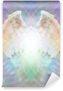 Vinylová Fototapeta Andělská křídla z různobarevné matice webu