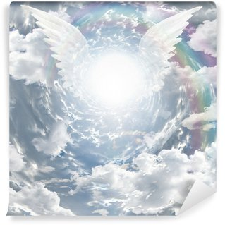 Fototapeta Vinylowa Angelic obecność w tunelu światła